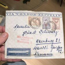 Rare Postal Postal Cover Condor Zeppelin, 1932 Argentina to Germany