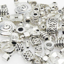Bastelset Metallperlen Mix 118 St. Metall Beads Perlen silber Perlenmix Spacer