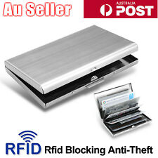 6 Slot Stainless Steel Wallet RFID Blocking Identity Protection Card Holder Case