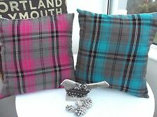 Country Shabby Chic Checked Decorative Cushions