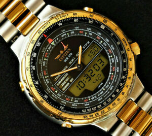 Citizen Promaster C080 Wingman World Time Quartz Pilot  R. Aqualand