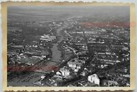50s Vietnam SAIGON MEKONG RIVER HO CHI MINH AERIAL VIEW MAP Vintage Photo #1613