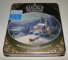 Thomas Kinkade Handel's Messiah Sunday Evening Sleigh Ride 3 CD Set + 6 Postcard
