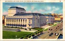 Postcard War Memorial & Opera House Civic Center San Francisco California.