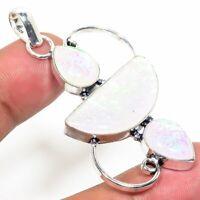 """Tripelet Fire Opal Handmade Ethnic Style Jewelry Pendant 2.36 """"  AA-339"""