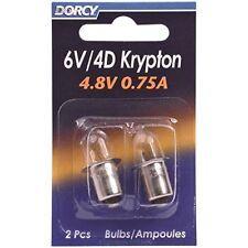 Dorcy 41-1663 6 Volt Krypton Bulbs 2 Pack