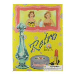 1950's Vintage 50's Style Retro Paper Dolls Set 24 Uncut 50s Doll Outfit Clothes