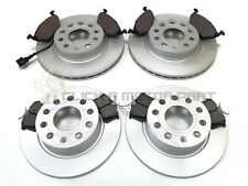 VW GOLF MK5 1.4 1.6 2005-2009 FRONT & REAR BRAKE DISCS AND PADS SET NEW