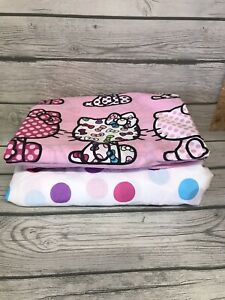 Hello Kitty Twin Flat And Fitted Sheet  2 Pc. E5