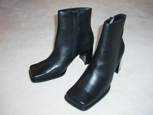 New Women's Size # 10 Black Fashion Ankle Leather Boots