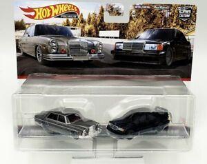 hot wheels car culture 2 pack set 72 mercedes 190e mercedes