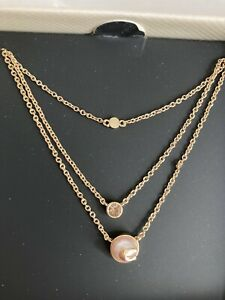 Coach Pearl Signature Layer Necklace