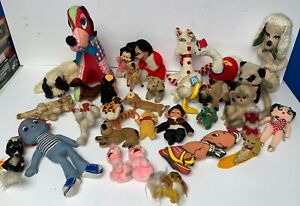 Lot of 1950's 60's + 33 Stuffed Animals DAKIN and Others Mickey & Minnie Mouse +