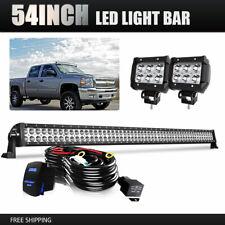 """54IN 312WLED Light Bar w/ Mount Bracket +4"""" Pod lights For 15-up Ford F150 Z4M"""