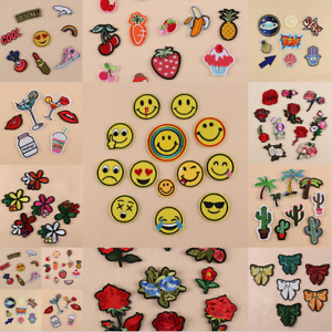 UK Applique Patches Embroidery Badge Sew Iron On Bag Clothes Multi Art Craft DIY