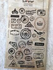 Travel Stamp PVC stickers Traveling Holiday Scrapbook Cardmaking diy