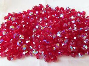 70 Preciosa round machine cut crystal beads in 6mm Siam AB