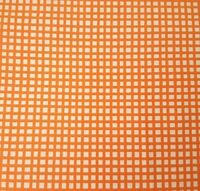 Happy Cats BTY Loralie Harris Quilting Treasures Orange Plaid on White