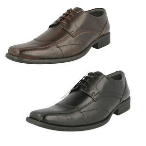 Bruno Donnari Herren Schwarz Oder Braunes Leder Schuhe NN908 (R4B)