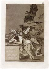 Goya Prints & Drawings: Sleep of Reason: Etching and Drawings: 3 Fine Art Prints