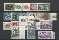 ITALIA REPUBBLICA 1957 ANNATA COMPLETA 18 VALORI GOMMA INTEGRA