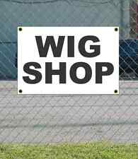 2x3 WIG SHOP Black & White Banner Sign NEW Discount Size & Price FREE SHIP
