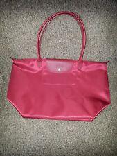 LONGCHAMP-Le Pliage-Neo-Ruby Red Large Shoulder Bag Tote Handbag-NWOT-AUTHENTIC