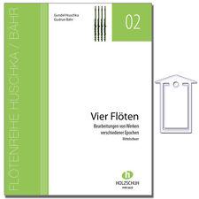Vier Flöten - Partitur und Stimme - mit Notenklammer - VHR3633 - 9783864340239