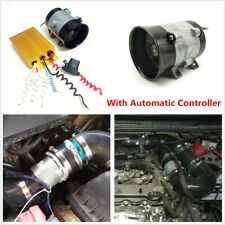 12V 16.5A Car Electric Turbine Turbo Charger Bold Lines w/ Automatic Controller