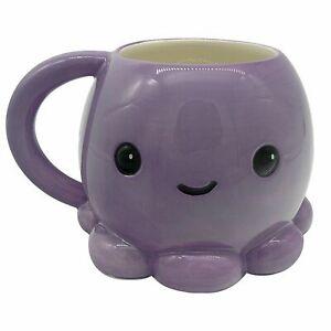 Cute Octopus Shaped Mug New Novelty Gift Birthday Fun Sea Creatures