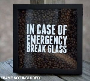 IN CASE OF EMERGENCY BREAK GLASS Sticker Decal for Christmas box frame GIFT Cute