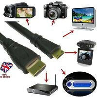 Mini HDMI Type C to HDMI A Lead 1080p HDTV Cable For Tablet Camera Smartphone