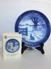 """Hare In Winter"" Royal Copenhagen Porcelain Collectors Plate"
