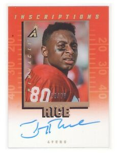 2019 National Treasures Pinnacle Inscriptions Autographs Jerry Rice AUTO 15/25