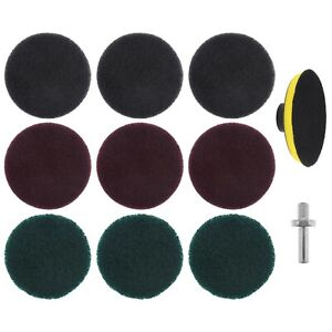 4 Inch Drill Power Scrubber Scouring Pads Cleaning Kit For Angle Grinder