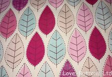 PRETTY ROSE AND HUBBLE SUMMER LEAF PRINT FABRIC 100% COTTON HALF METRES