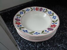 ADAMS OLD COLONIAL SOUP PLATES X 6