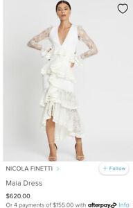 Nicola Finetti Maia Dress White - Size 8