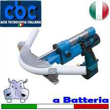 Curvatubi idraulica a batteria – Piegatubi 3 forme (16-20-26) 3 controforme (...
