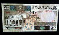 ★★ SOMALIE / SOMALIA ● VARIETE / RADAR ● BILLET DE 20 SHILLINGS 1983 ● SPL ★★