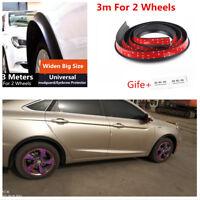 3M Car Rubber Car wheel arch Wheel Eyebrow Trim Protector Stripe 40mm Black