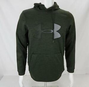 Under Armour Cold Gear Hoodie Sweatshirt Green/Gray Men's Small