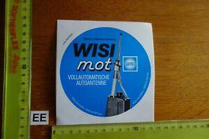 Alter Aufkleber Automobil HiFi Radio CB-Funk WISI MOT Autoantenne (B)