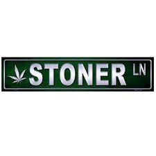 """Stoner Lane Indoor/Outdoor Novelty Metal Mini Street Sign 4"""" x 18"""""""