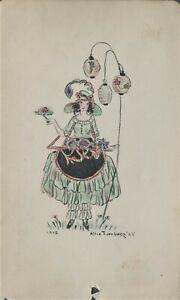 Unknown Artist - ALICE TURNBERG - Original Drawing - 1923
