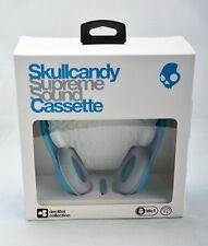 Skullcandy Cassette On-Ear Stereo Foldable Headphones w/Mic Remote Black & Blue