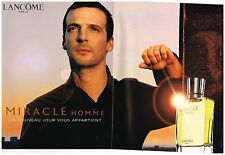 Publicité Advertising 2002 (2 pages) Parfum pour Homme Miracle de lancome