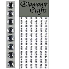 120 x 5mm Clear Diamante Self Adhesive Strips Rows Rhinestone Craft Gems