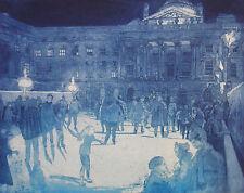 "RARE ORIGINAL MIRANDA HALSBY R.B.A ETCHING  London  ""Somerset House, Winter"""