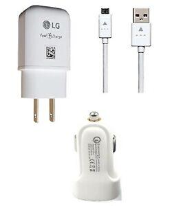 LG OEM Fast Wall,USB,Car For LG K22/Fortune3/Aristo 5/K31/K8x/Risio 4/Phoenix 5